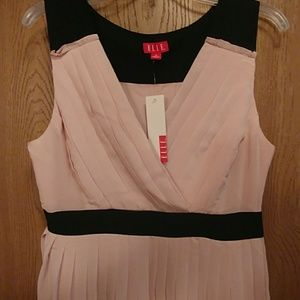 Elle Dresses - Light pink and black sleeveless dress